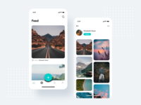 Travel App Design Project - Feed