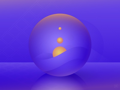 Inside. gradient illustration vector illustrator
