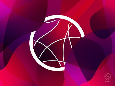Wave concept logo gradient graphic design vector illustrator