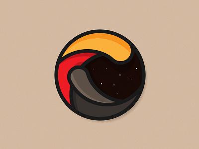 🌋•Eruption illustration concept logo graphic design vector illustrator