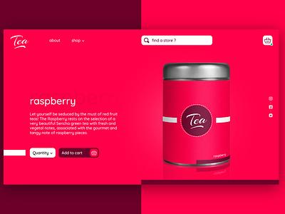 Tea website 1 webdesign website design website web design ux ui branding graphic design