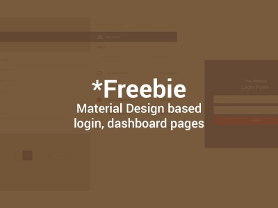 Freebie Material Login, Dashboard Pages dashboard login design material freebie