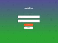 Login UI for Mobile Application