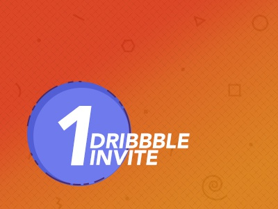 1 Dribbble Invite Available shot dribbble invite