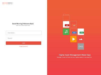 Login Screen UI Concept concept ui screen login
