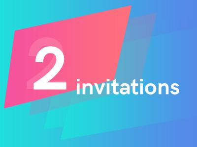 2 dribbble Invite! invitation invite dribbble