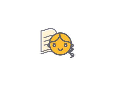 Girl Education Concept Logo concept logo education girl