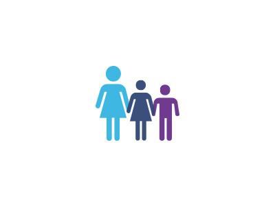 Girl and Children Education Concept Logo logo concept education children girl