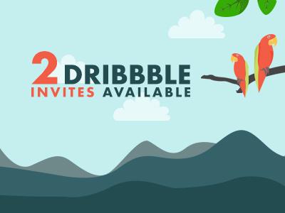 2 Dribbble Invite! invite dribbble