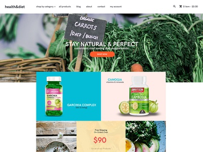 [Sample] Shopify Template for dietary supplements supplement dietary shopify template