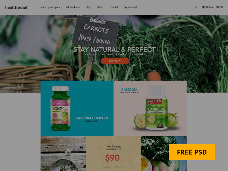 Free PSD - Shopify Template template shopify psd free