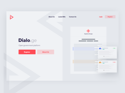 Dialo.ge - Landing Page for Open Government Platform