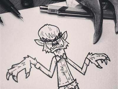 Inktober14-Day03-Wolfman