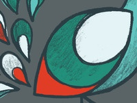 Peacock Illustration Detail