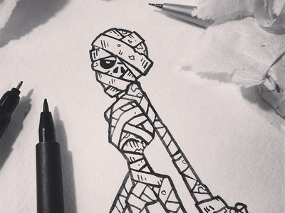 Inktober14-Day04-Mummy
