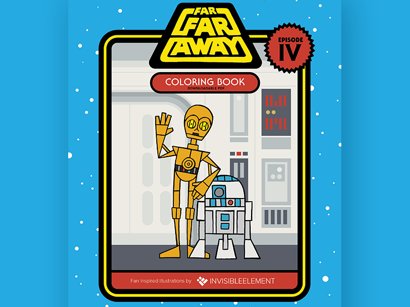 Free Star Wars Coloring Book freebie invisibleelement illustration coloring book may4th star wars free