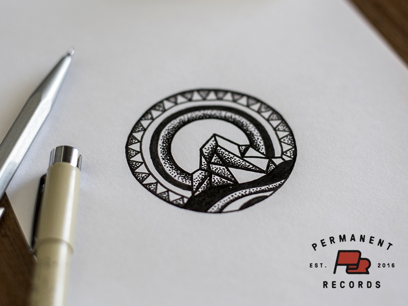 Permanent Records - Sketch process sketch song lyrics beatles sun mountain illustration design tattoo permanent records