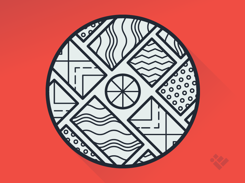 Self Promo Sticker stickers sticker free giveaway geometric illustration branding stickermule