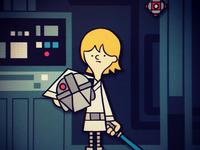 Luke Skywalker on the Millenium Falcon