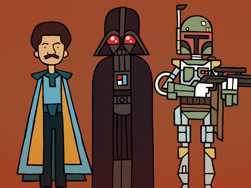 Lando Vader & Boba Fett : WIP star wars illustration character fan art sketch vector