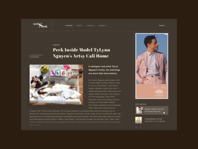 Fashion magazine - article concept