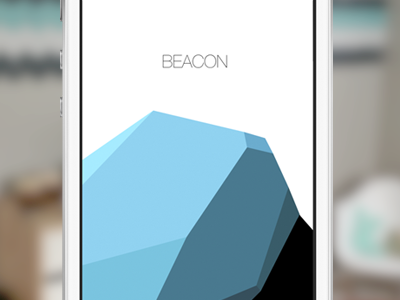 Beacon launch image mockup design vector app ios ios7 flat