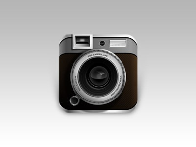 Camera App Icon camera app icon illustrator work fun iphone vector ios ios5 application