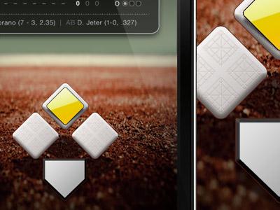 America's Favorite Pastime App app design icon ui mobile work ios iphone sports baseball
