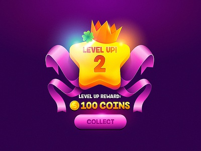 Level Up level up banner gui arcade app interface