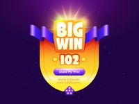 Online game big win banner template