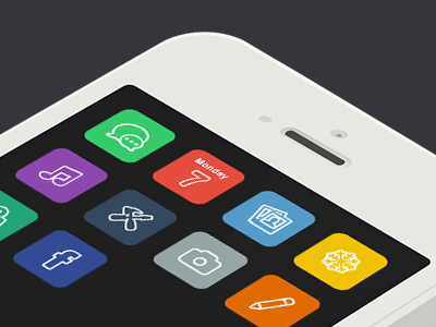 IOS 7 Concept ios app iphone icon clean flat ui ux elad weizman application 2013 ios7 trend colors