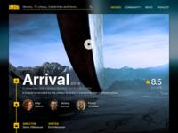 IMDb Movie page concept