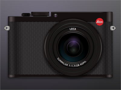 Leica Q - Sketch Experiment lens 3d realistic skeumorphic design sketch illustration black camera leica