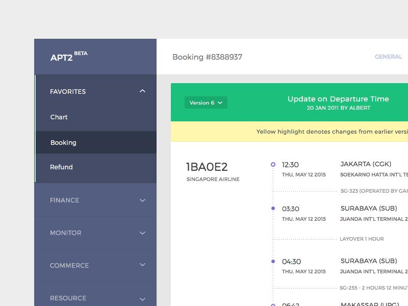 Itinerary Versioning WIP sidebar itinerary desktop tool internal dashboard wip
