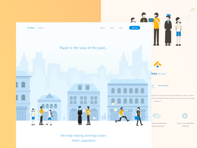 Landing Page Experimentation website web page landing illustration flat desktop profile company colors