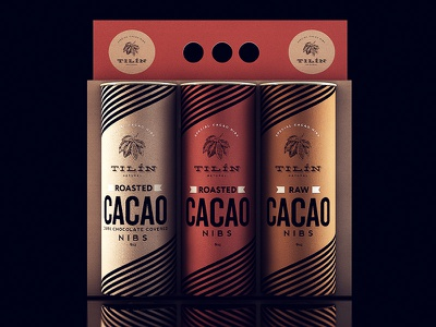 Tilín Cacao cacao black packaging chocolate