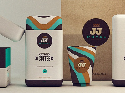 JJ ROYAL - Pitch coffee packaging