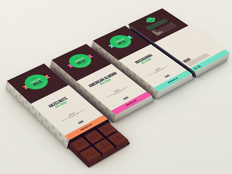 Cocoville chocolate packaging