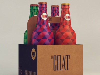Le Chat - Pack chat packaging beer