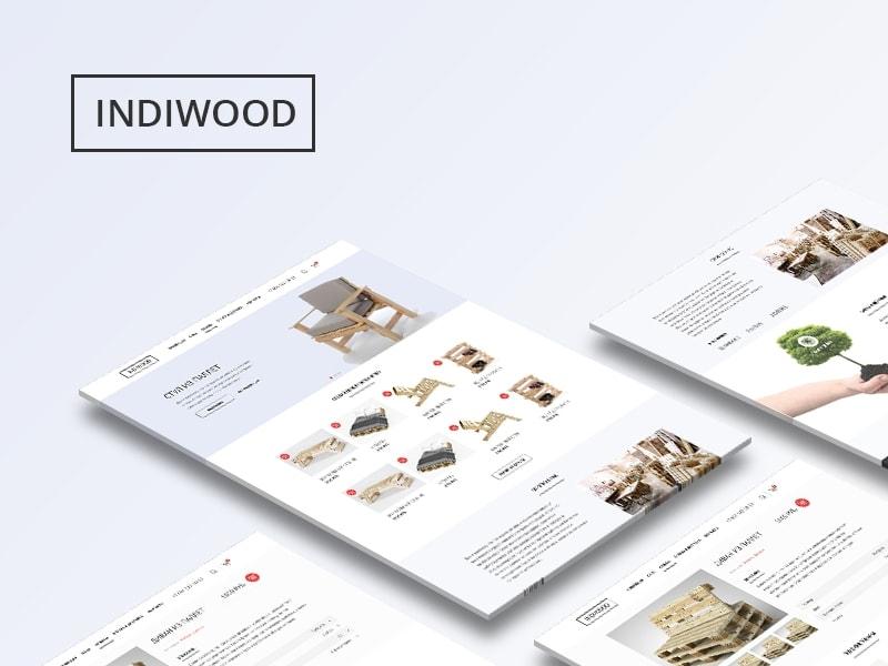 Indiwood clean ui clean web shop website design webdesign page website branding ecommerce desktop uiux ui illustration design