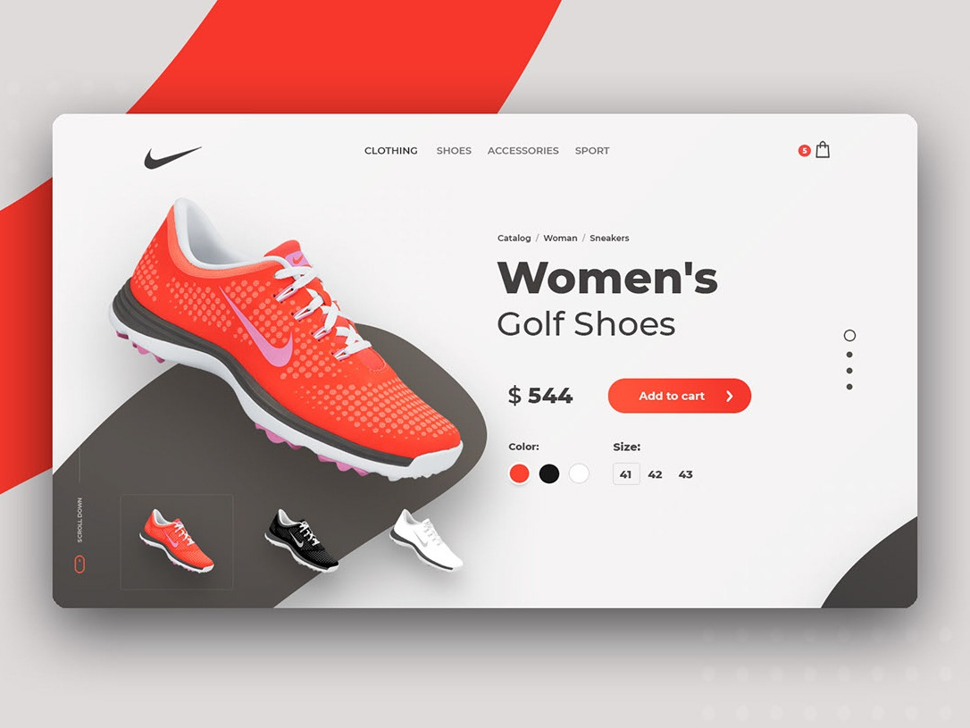 Nike redesign concept mainpage website webdesign web uxui uiux clean ui nike design creativity concept clean