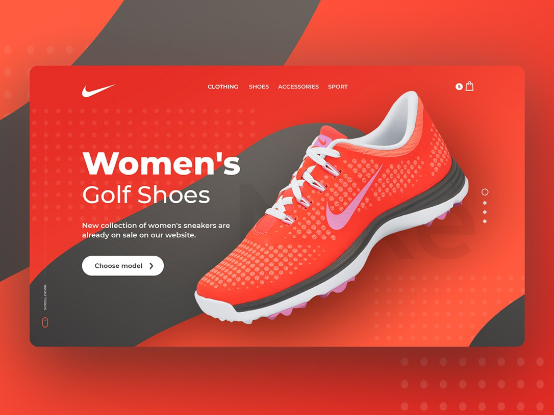 Nike redesign concept red sniker nike redesign concept web design clean ui website ui uiux webdesign clean