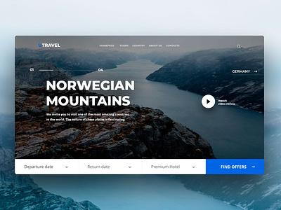 Travel Concept website norwegian website webdesign concept uiux clean ui travel agency travel app clean travel