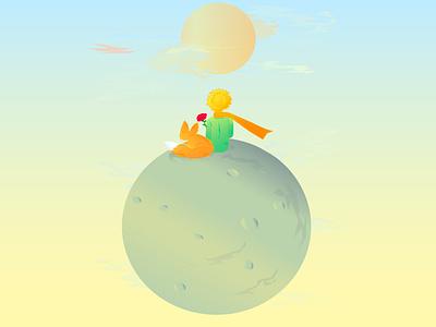 The Little Prince fairytale litle prince art vector illustrator illustration