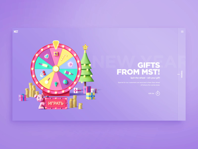 New Year prize draw! creative agency new year 2019 new year motion animation main page homepage web design