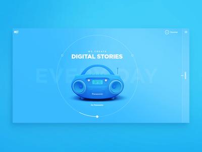 Slider on the main page arrow slider motion slider 3d creative agency motion animation main page homepage web design