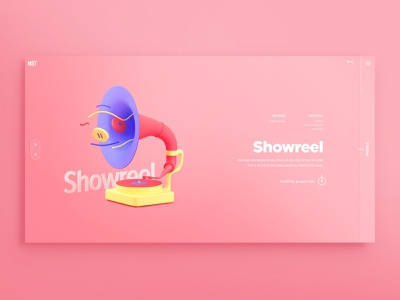 Cover for agency cases ui  ux design creative agency 3 color homophone slider visual art cases showreel 3d web design