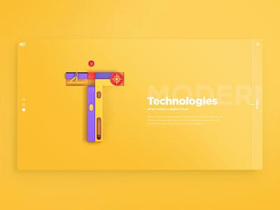 MST agency philosophy page philosophy 3d creative 3d art 3d letters agency web design