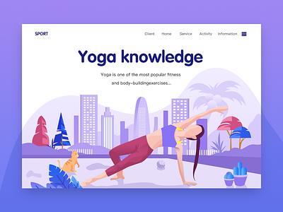 Yoga knowledge inbetweening lighthouse scenery ui