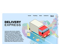 Isometric site for company Delivery Express